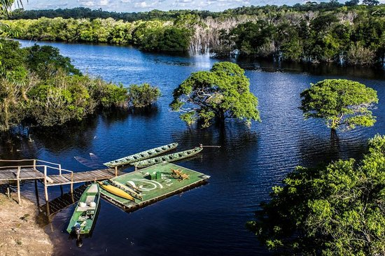 Amazon Tupana Lodge: El embarcadero desde donde parten las excursiones y única vía de comunicación del hotel