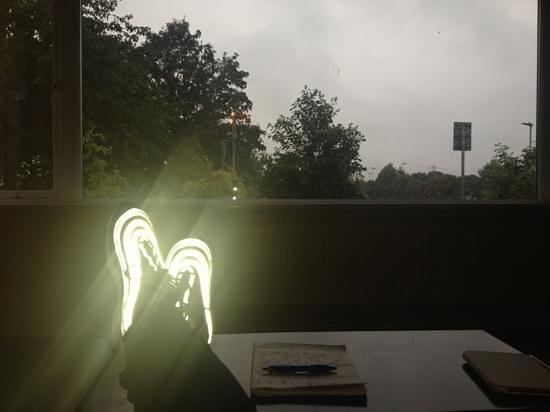 Albemarle Gate B&B: finestra del soggiorno