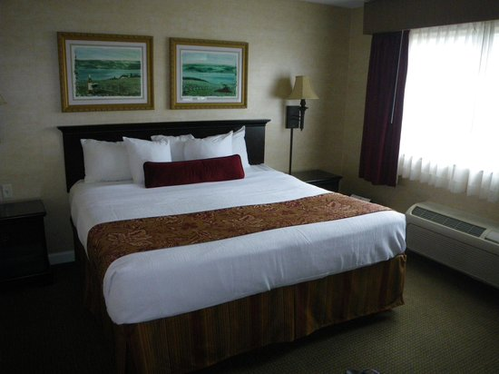 Best Western Plus Vineyard Inn & Suites: King bed in Presidential suite