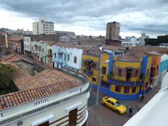 Hotel Casa Deco : A street view from the hotel terrace
