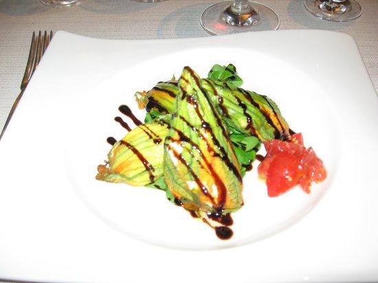 Osteria dei Pazzi: fleurs de courgettes