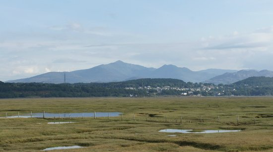 Estuary Cottage Bed and Breakfast: From across the estuary - looking at Snowdon