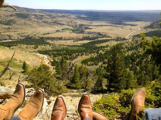 JJJ Wilderness Ranch: lunch break on a ride