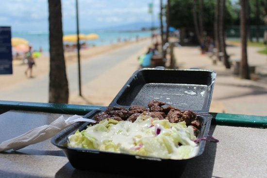 Steak Shack: Good food and great view