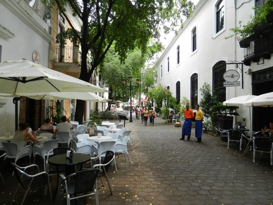 Segafredo: The resturant is on both sides of the street.