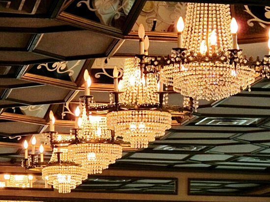 Gorgeous chandeliers picture of versailles restaurant miami versailles restaurant gorgeous chandeliers aloadofball