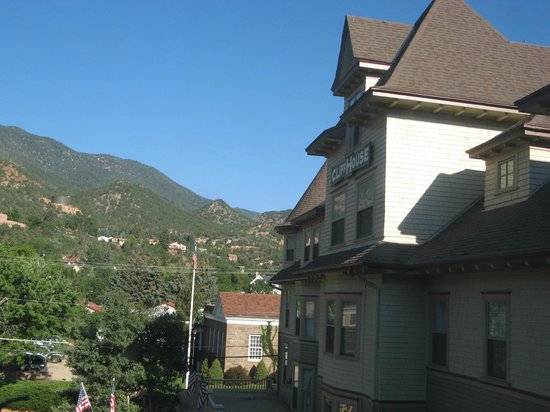 The Cliff House at Pikes Peak: View from room 309, looking at front of hotel