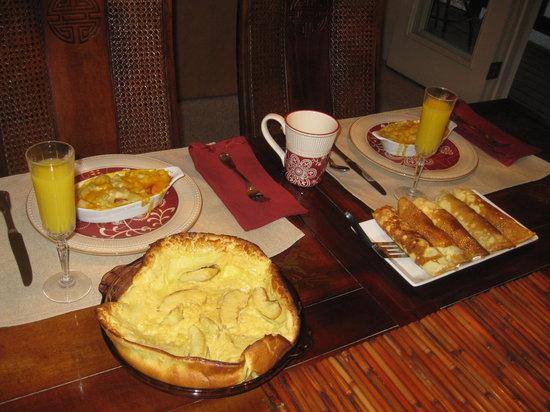 Bridal Veil Bed and Breakfast: Breakfast