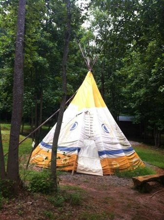 North Georgia Canopy Tours Tee Pee #4 Day and Night & Tee Pee #4 Day and Night - Picture of North Georgia Canopy Tours ...