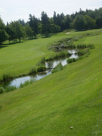 Mill River Golf Course - Rodd Mill River Resort: 7th at Mill River view from green back to tee