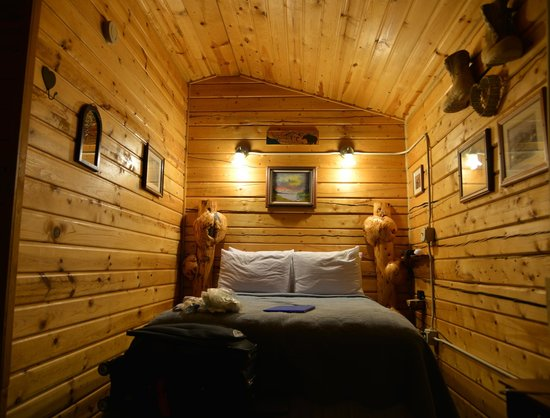 One cabin interiors Picture of EarthSong Lodge Denalis Natural