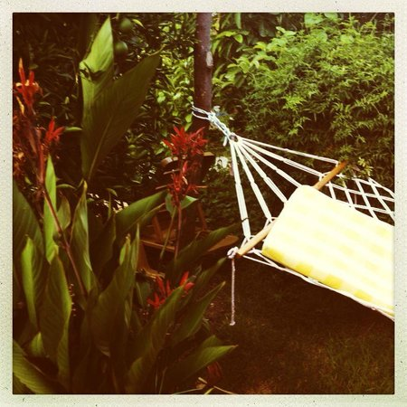 Caretta Caretta Pension: a hammock in the garden