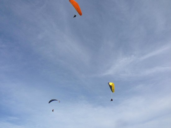 Paragliding in timbis, around 20min away from Ellie's