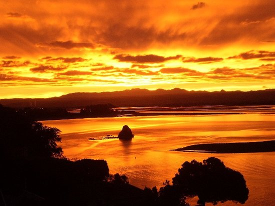 Harbour View Homestay: Sunset over Nelson Harbour