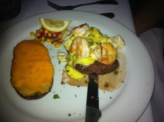 Louisiana Lagniappe: steak and shrimp was really good.