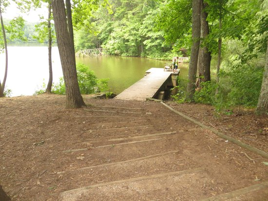 Madison County Nature Trail-Green Mountain: dock near park entrance