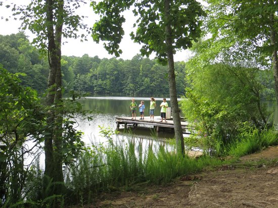 Madison County Nature Trail-Green Mountain: Kids fishing