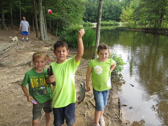 Madison County Nature Trail-Green Mountain: Caught a catfish now letting it go
