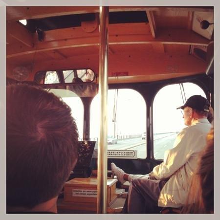 Mackinaw Trolley- Day Tours: inside trolley