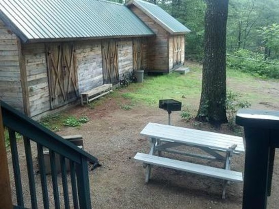 Chocorua Camping Village: View from back deck