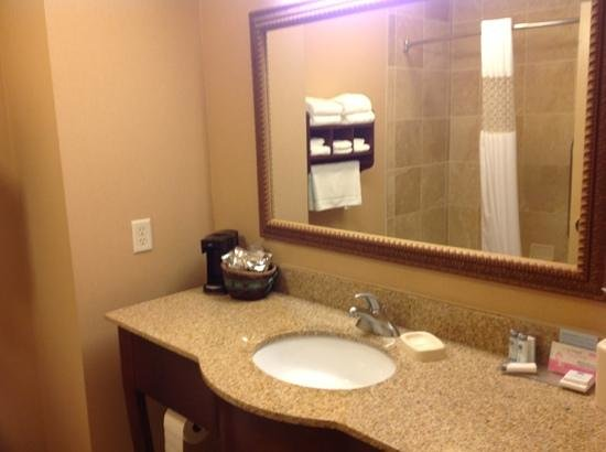 Hampton Inn and Suites Alexandria : bathroom