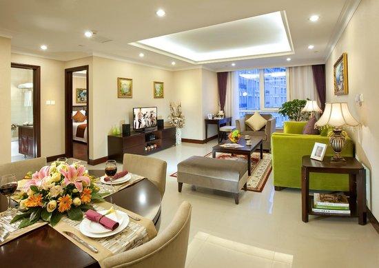 Ariva Tianjin Binhai Serviced Apartment : living room