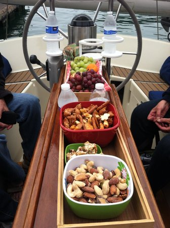 Central Coast Sailing Charters: yummy munchies