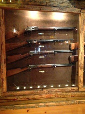 Gun Barrel Steak & Game House: Nice Winchester collection