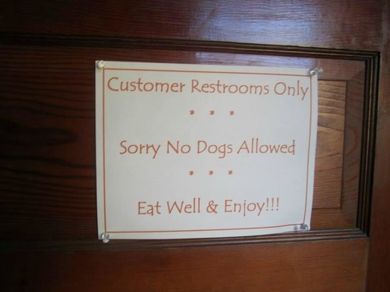 Jezebel's Eatery: sign on entering