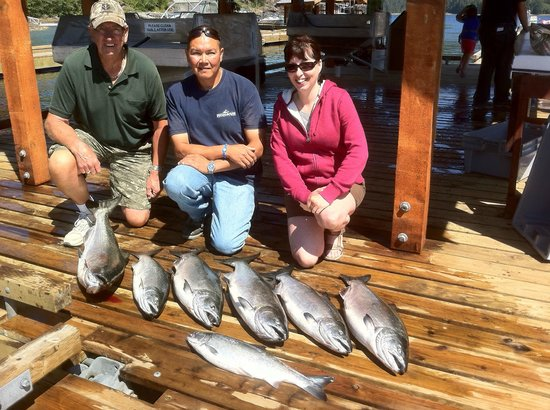 Moutcha Bay Resort: First day's catch