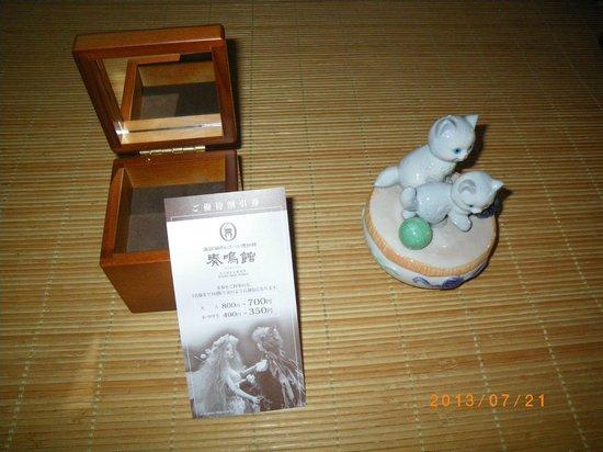 Nidec Sankyo Museum Suwanone: おみやげ品の例