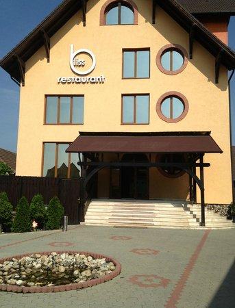 Pensiunea Belascu Sibiu: front of the hotel and restaurant