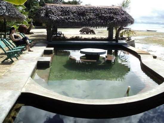 Hotel La Petite Traversee: Salt Water Pool with Tropical Fish