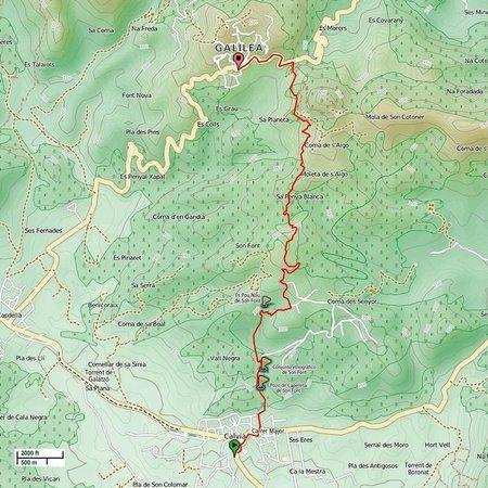 CR5 Calvia - Son Font - Galilea Trail: CR 5 Calvia-Son Font- Galilea Hiking Trail
