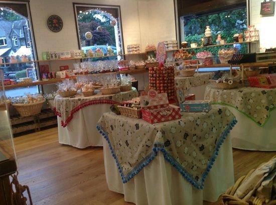 Lake Grasmere: inside chocolate shop