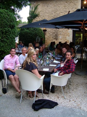 Chateau les Merles : Dinner on the Terrace