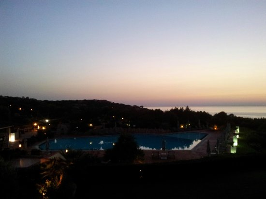 Grand Hotel in Porto Cervo : View from room at sunrise.
