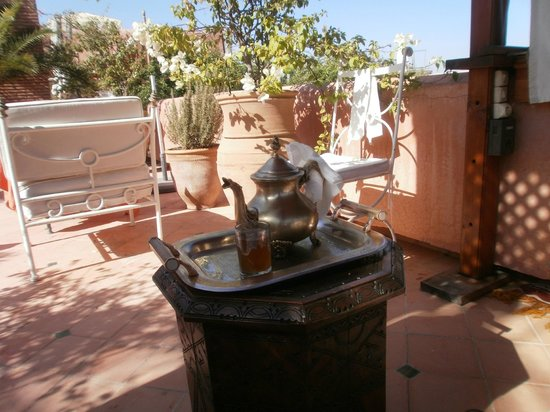 Riad Monika: Breakfast roof terrace