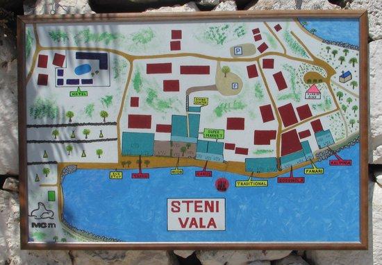 Steni Vala, Ortsplan