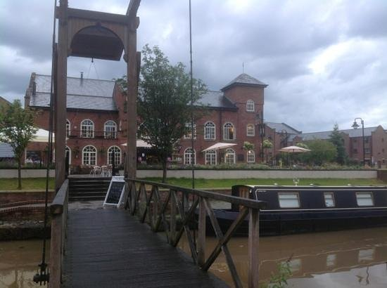 entrance to the Wharf showing the canal