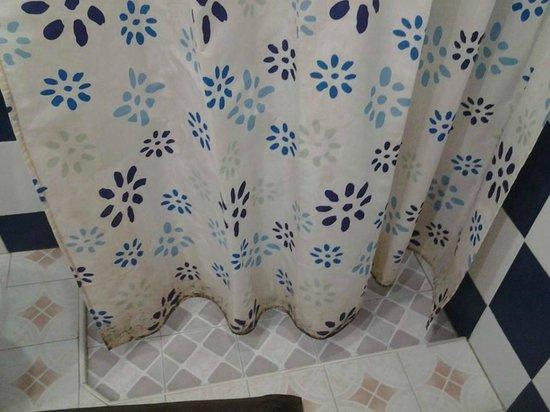 Baan Manthana Hotel: Duschvorhang...Schimmel leider schlecht erkennbar,,,