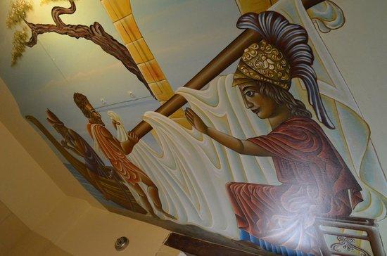 Palazzino di Corina: Bathroom ceiling mural