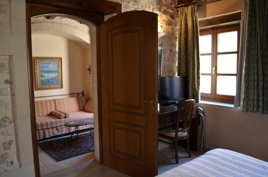 Palazzino di Corina: Our bedroom, with the lounge to the left