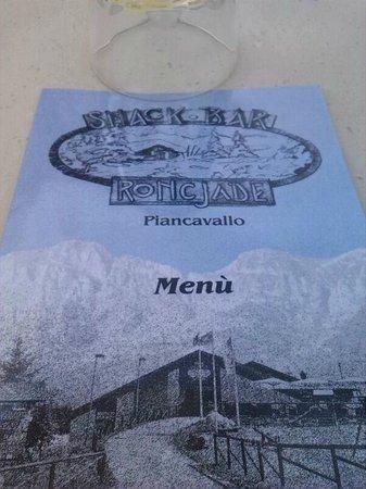 Roncjade : il menu