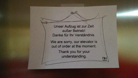NH München City Sud: no funciona ascensor durante 3 dias