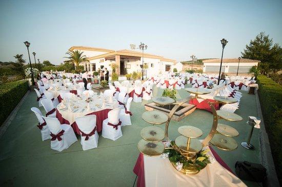 Cortijo de Tajar Hotel: Montaje para celebraciones