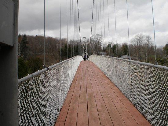 Parc de la Gorge de Coaticook: pont suspendu