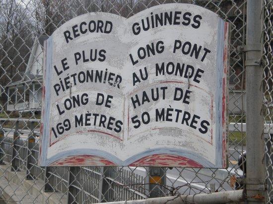 Parc de la Gorge de Coaticook: record guiness