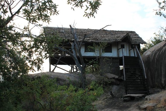 Maweninga Camp: Rooms on stilts