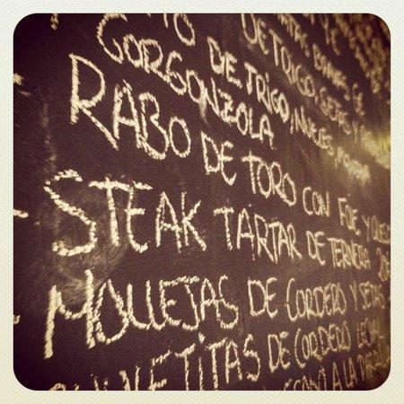 Casa La Parra: A fragment of the menu